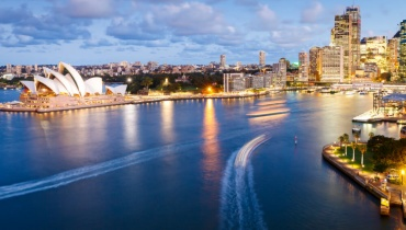Light from Circular Quay Sydney